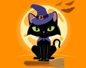 Хэллоуин-кошки - Пазл