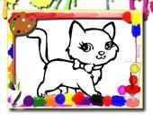 Раскраска: Милые котики