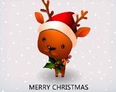 Найди отличия: Рождественский северный олень