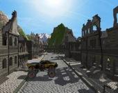 Поездка по разрушенному городу