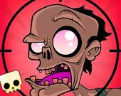 Злые зомби: выстрел из рогатки