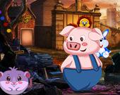 Побег фермерской свиньи