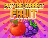 Положи правильный фрукт
