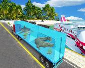 Грузовой автомобиль с морскими животными