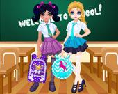 Жаклин и Эльза: выбираем сумку в школу