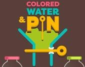 Цветная вода и булавки