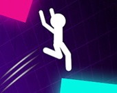 Цветной прыжок Стикмена