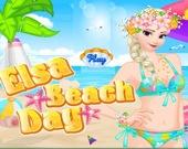 День на пляже с Эльзой