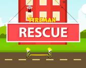 Пожарный спасет