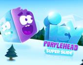 Ледяная пурпурная голова 3. Супер слайд