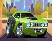 Скоростные машины - Пазл