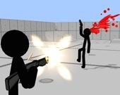 Стикмэн - стрельба из автомата
