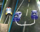 За рулем полицейской машины