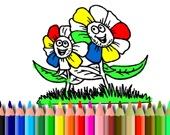 Раскраска: Цветы