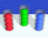 Цветные шарики: сортировка по цвету