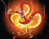 Китайские драконы - Раскраска