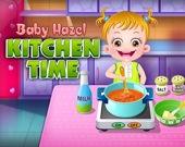 Малышка Хейзер на кухне
