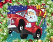 Рождественский грузовик: Пазл