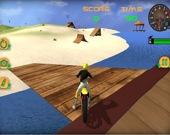 Симулятор пляжных прыжков на мотоцикле