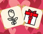 Раскраска: Подарки на день святого Валентина