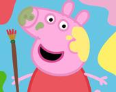 Коробка для рисования милых свинок