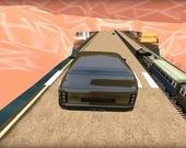 Поезд против гоночного авто