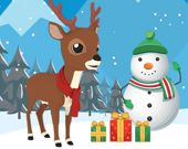 Паззл: Рождественские олени