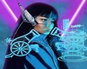 Неоновая кибер-пушка