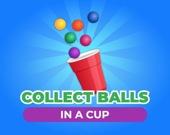 Собери шарики в чашку