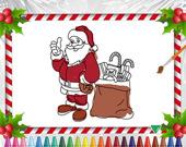 Раскраска: Рождество