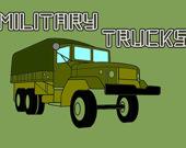 Раскраска: Военные грузовики