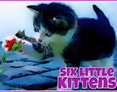 Пазл: Шесть маленьких котят