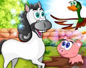 Изучение сельскохозяйственных животных: развивающие игры для детей