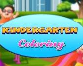 Раскраска детский сад