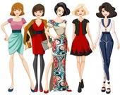Девочки топ-модели. Пазл