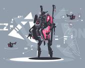 Скрытый инопланетный робот-воин