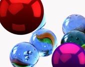 Прыгающие светящиеся шары