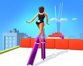 Бег на каблуках-башнях 3D