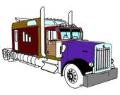 Американские грузовики раскраска