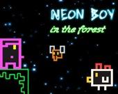 Неоновый мальчик в лесу