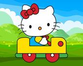 Милая кошка на автомобиле