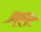 Раскраска Милых Динозавров