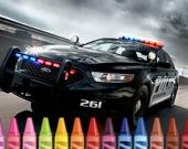 Раскрась полицейские автомобили