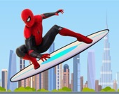 Человек-паук на скейтборде