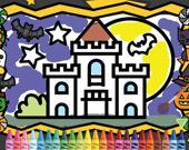 Хэллоуин: Раскраска для детей