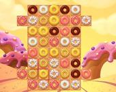 Пончики: 3 в ряд