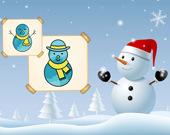 Счастливый Снеговик: Раскраска