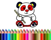Раскраска: Панда