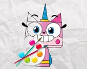 Единорог Китти - Раскраска