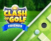 Удар гольфа с друзьями